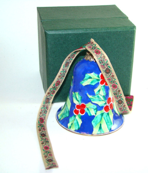Kelvin Chen Christmas Holly Bell Enamel Ornament EN806B