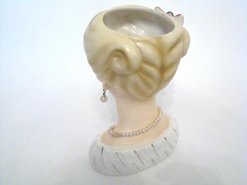 Vintage authentic Lady Head Vase Inarco E-195B