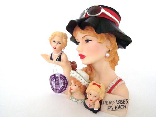Cameo Girls Lady Head Vase Blythe 1966 Yard Sale Surprise