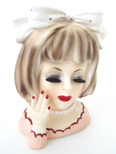 Antique Lady Head Vase Inarco E-2005