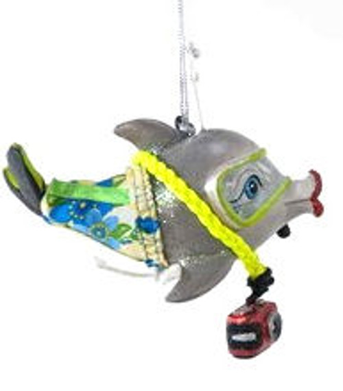 Katherine's Collection Dolphin Kissing Fish in Green Goggles