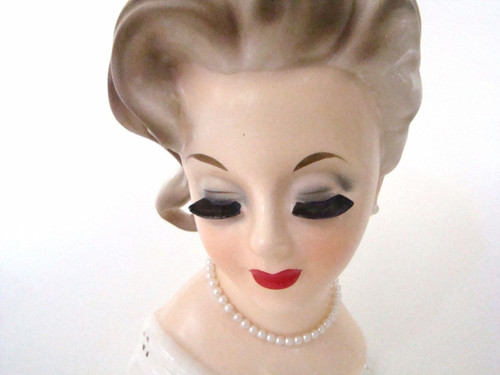 Vintage authentic Lady Head Vase Inarco E1067