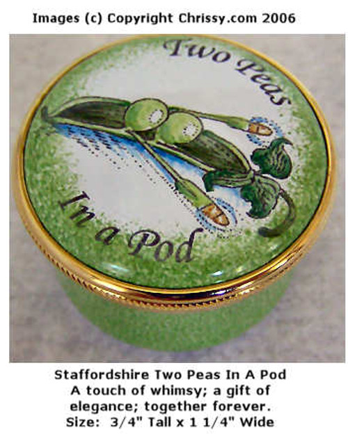 Staffordshire Two Peas In A Pod