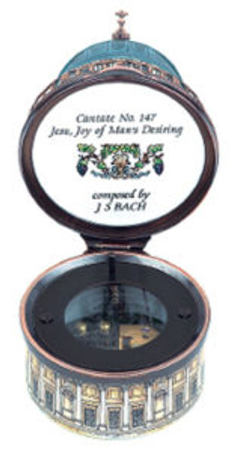 Staffordshire St. Paul's Cathedral Music Box (68-001)