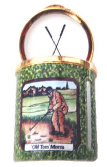 Staffordshire Golfing Stamp Box (31-540)
