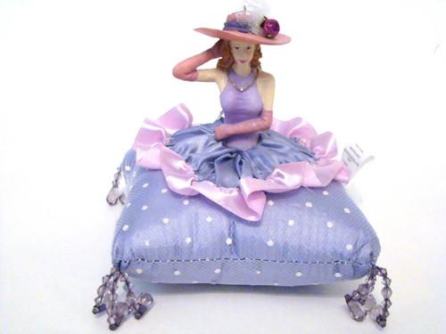 Pink Hat Lady Pin Cushion Doll #DI2290