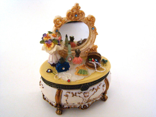 Popular Imports Decorated Vintage Look Victorian Dresser Hinged Box (617002)