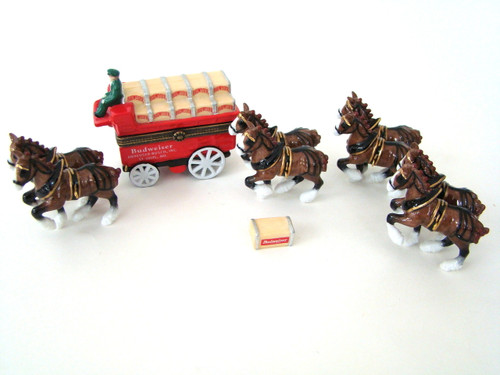 Budweiser Clydesdales and Wagon PHB