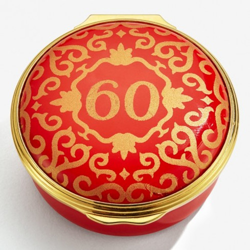 60 CLASSIC NUMBER BOX RED & GOLD ENCL600601G