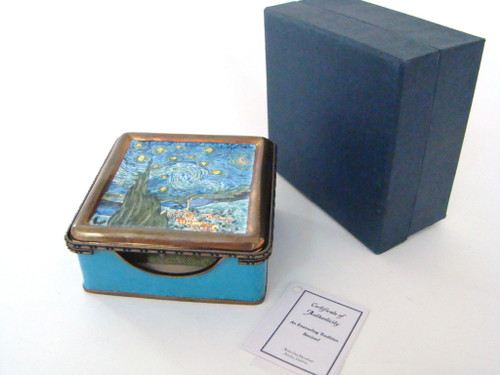 Kelvin Chen Vincent Van Gogh Stary Night Notepad Holder Hinged Box (EY3C3)