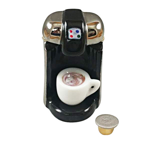 """R"" CUP COFFEE MAKER WITH REMOVABLE COFFEE CUP AND ""R"" CUP Limoges Box RK216-K"