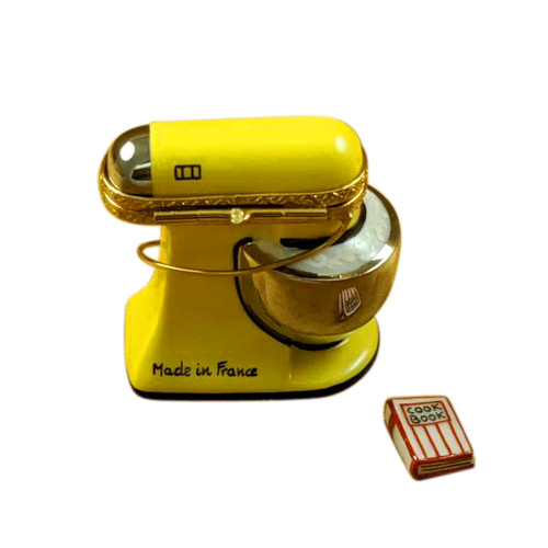 YELLOW MIX MASTER WITH A REMOVABLE COOKBOOK Limoges Box RK219