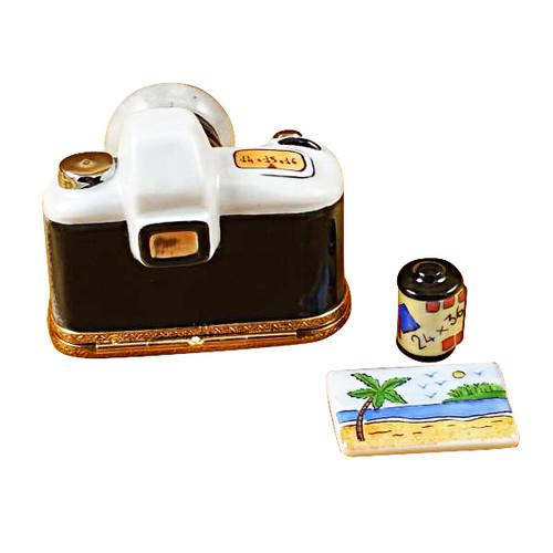 Rochard CAMERA W/FILM & PHOTO Limoges Box RP008-K