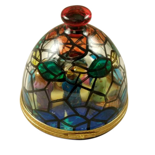 STAIN GLASS DOME W/ NATIVITY INSIDE Limoges Box