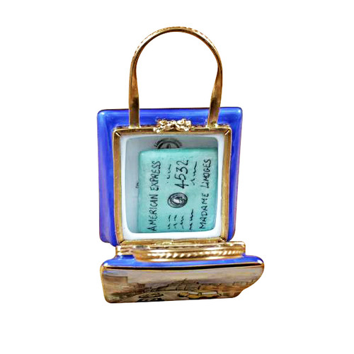 5TH AVENUE SHOPPING BAG W/ CREDIT CARD Rochard Limoges Box
