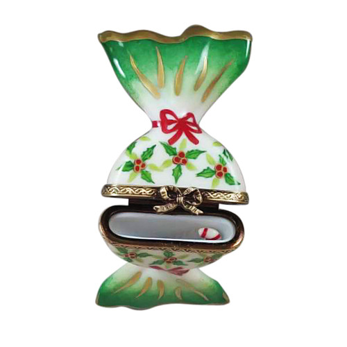 Rochard HOLLY CANDY W/ CANDYCANE Limoges Box RX217-I