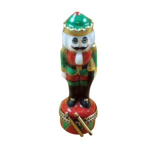 NUTCRACKER WITH GREEN HAT Limoges Box TX954-J