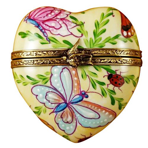 Limoges Imports Butterfly Heart Limoges Box TH947-J