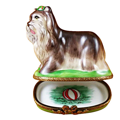 YORKSHIRE TERRIER Limoges Box TD011-I