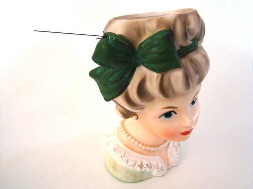 Vintage Lady Head Vase Brinns T-1576
