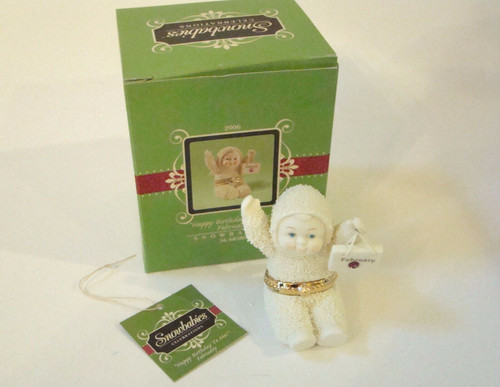 Dept. 56 Snowbabies FEBRUARY Birthday Hinged Box (56-68380)