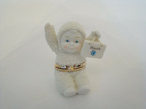Dept. 56 Snowbabies MARCH Birthday Hinged Box (56-68382)