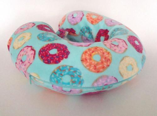 Soft & Plush Memory Foam Donut Print Neck Pillow