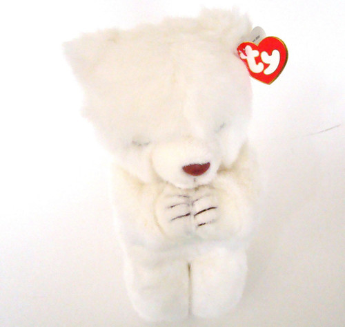 TY Plush FAITH White Bear Praying (TY5600)