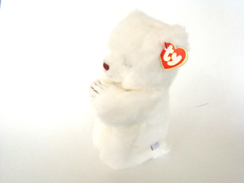 TY Plush FAITH White Bear Praying