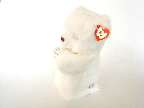TY Plush FAITH White Bear Praying