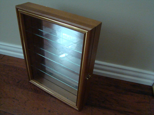 "SMC Collectors 14.5"" Cabinet with Glass Door Curio Adjustable Shelves (SMC8000GS)"