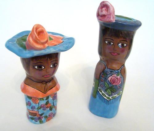 Susan Paley Lady Salt & Pepper Etta and Donna Set/2 (BC9277)