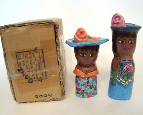 Susan Paley Lady Salt & Pepper Etta and Donna Set/2 (BC9277)