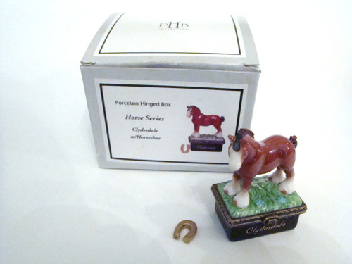 HB Horse Series Set/3 Porcelain Hinged Boxes