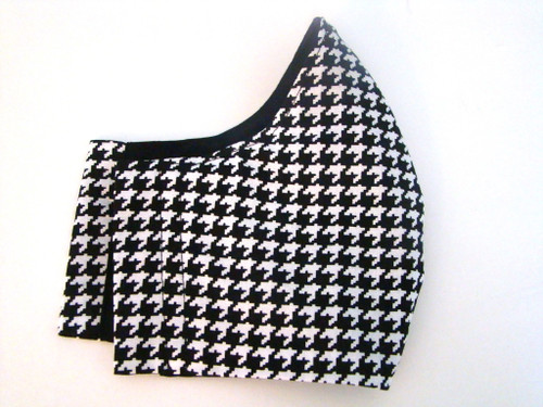 Face Mask - Classic Houndstooth Black and White