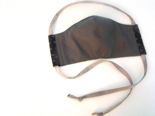 Face Mask - Classic Dark Gray Small Print
