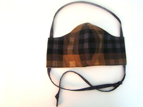 Classic Plaid Dark Earth Tones and Small x Geo