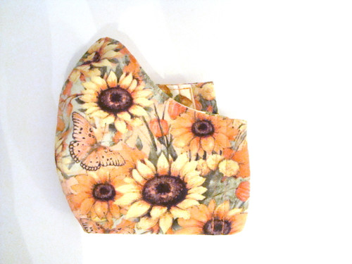 Face Mask - Sunflowers and Fall Leaves (FM-SUNFLOWERS-FALL-LEAVES)