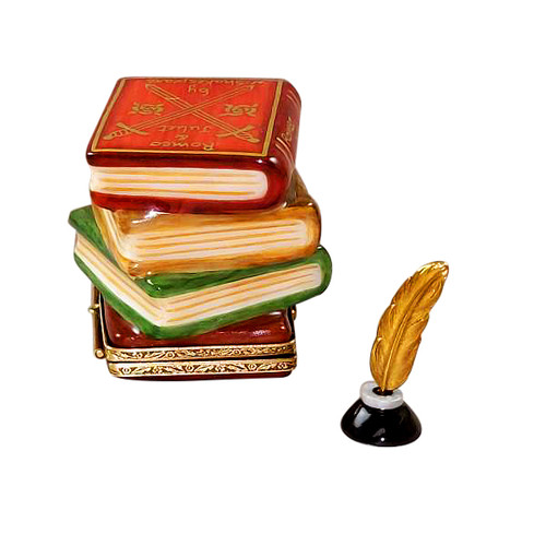 Shakespeare Stack of Books Limoges Box RN054