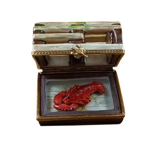Lobster Trap with Removable Lobster Limoges Box RA336