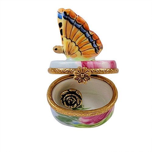 Monarch Butterfly with Removable Brass Flowers RA343