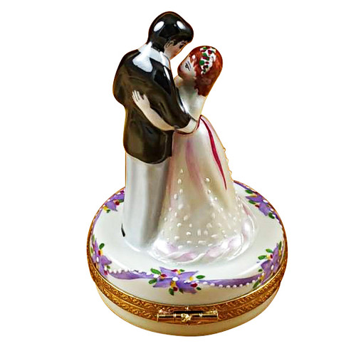 Dancing Bride & Groom Rochard Limoges Box