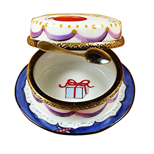 Rochard VANILLA BIRTHDAY CAKE Limoges Box RO113-H