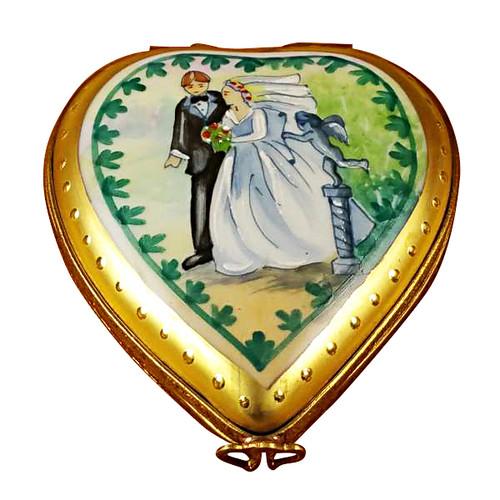 Studio Collection - Heart W/Wedding Couple Rochard Limoges Box