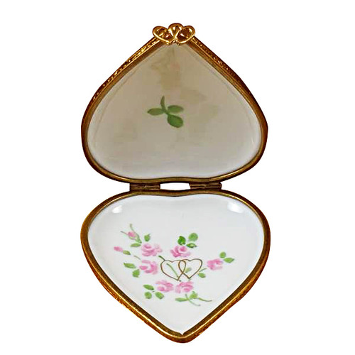 Studio Collection - Heart W/Wedding Couple Rochard Limoges Box