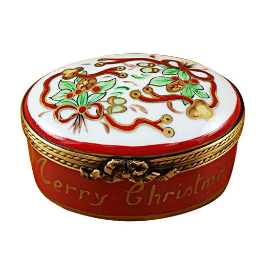 Oval - Merry Christmas Rochard Limoges Box RX005-G