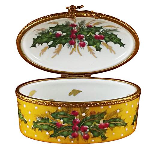 Studio Collection - Oval W/Santa Claus Rochard Limoges Box
