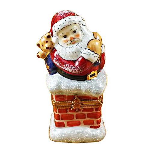 Rochard SANTA IN CHIMNEY Limoges Box RX034-I (RX034-I)