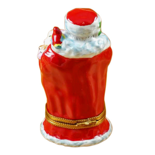Santa W/Animals Rochard Limoges Box