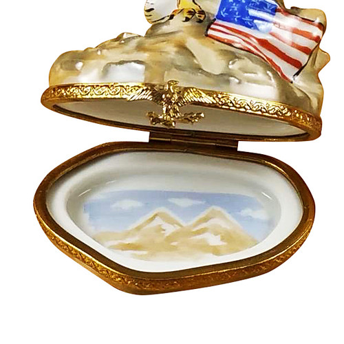 Eagle W/American Flag Rochard Limoges Box